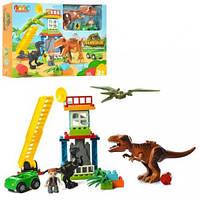 Конструктор JDLT строение, динозавры, фигурка, транспорт, 43 детали, 5409