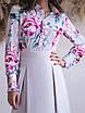 Светло-серое Платье с имитацией блузки, фото 5