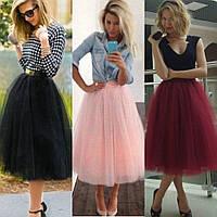 Фатиновая юбка женская, многослойная, 5 слоев фатина, пышная фатиновая юбка, юбка - пачка, точно как на фото, фото 1