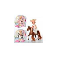 Кукла DEFA мини  10,5см, лошадка, 3 вида, 8410