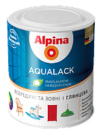 Эмаль акриловая Alpina Aqualack (полуматовая) 0,75 л