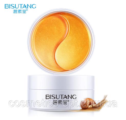Регенерирующие патчи под глаза Bisutang с золотом и муцином улитки, 60 шт