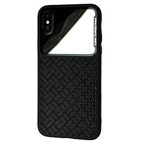 Чехол-накладка DK-Case Silicone Weaving Case Mirror для Apple iPhone XS Max (black)