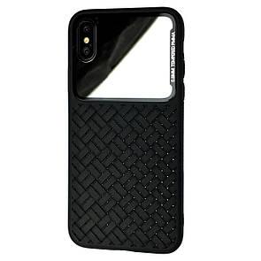 Чехол Silicone Weaving Case Mirror Apple iPhone XS Max (black)