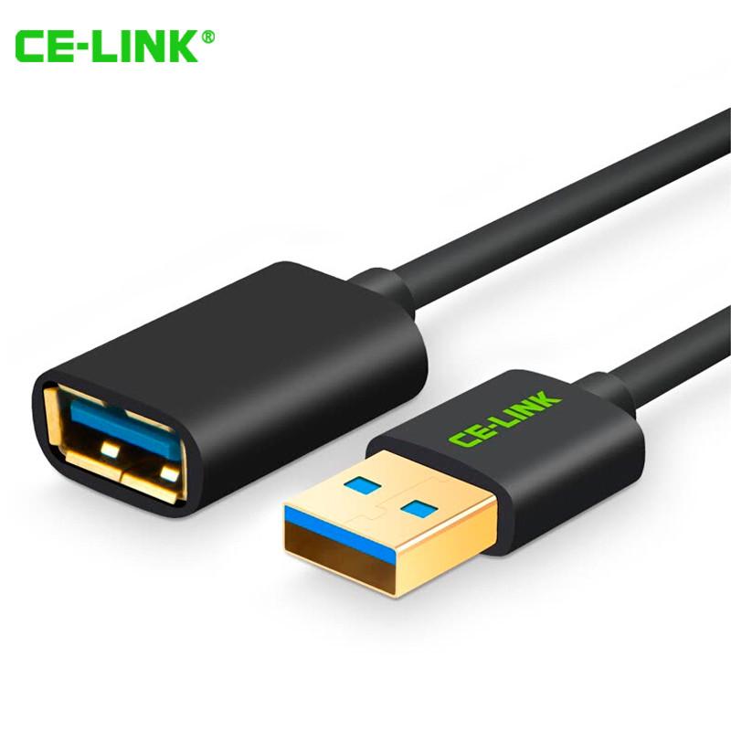 USB кабель удлинитель CE-LINK USB 3.0 (AM / AF штекер - гнездо, Черный, 1.5м)