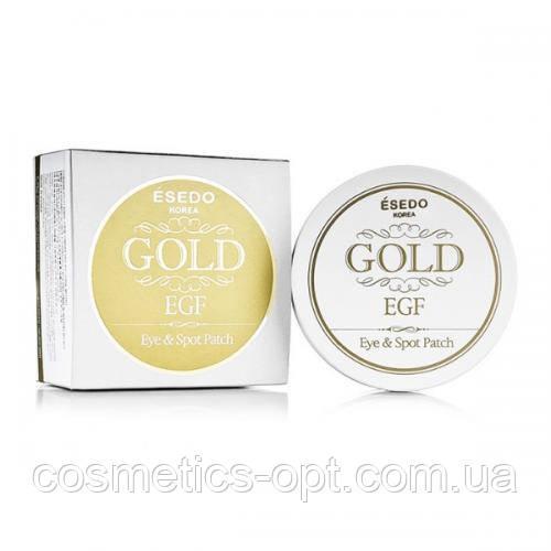 МЯТАЯ КОРОБОЧКА! Патчи под глаза  с золотом ESEDO Gold & EGF Eye & Spot Patch, 60 шт