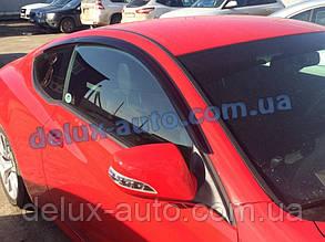 Ветровики Cobra Tuning на авто Hyundai Genesis Coupe 2013 Дефлекторы окон Кобра для Хюндай Генезис Купе с 2013