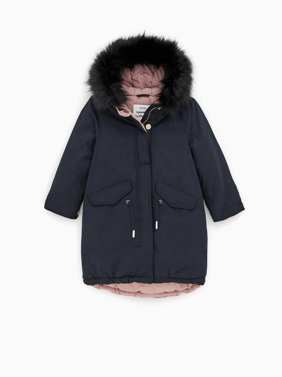 Пуховик Zara размер 164 см зимнее пальто для девочек подростков пуховики детские