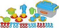 Набор детской посуды Полесье на 6 персон, 38 эл. (57686)