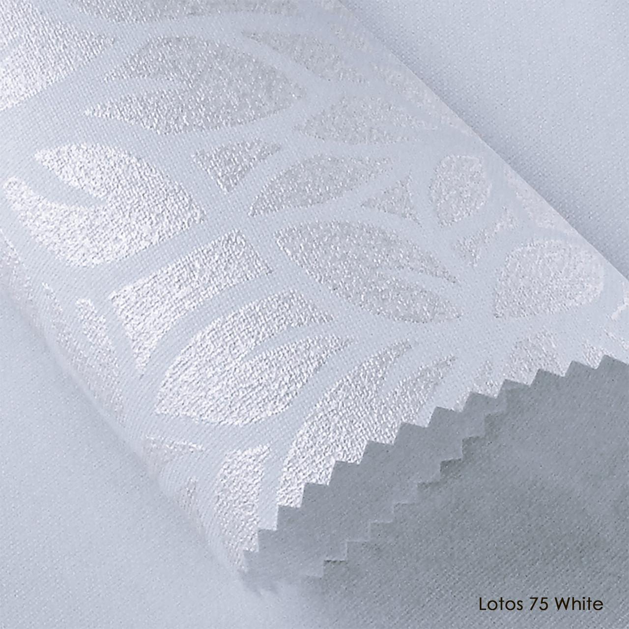 Ролеты тканевые Lotos 75 White