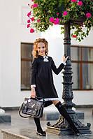 Школьное платье №369 (р.134-152) черный, фото 1