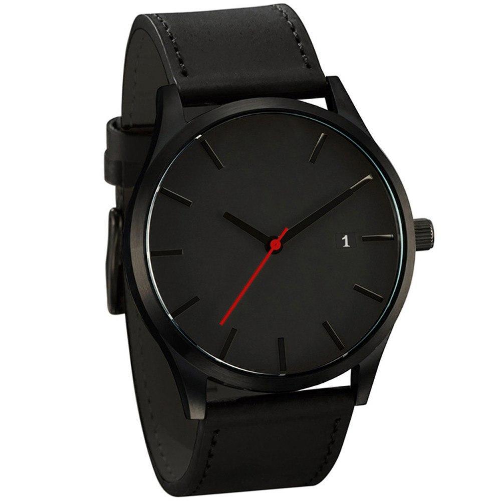 Класичні чорні наручні чоловічі годинники