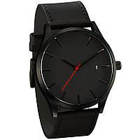 Классические черные наручные мужские часы