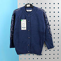 Кофта для девочки синяя тм Mizgin размер 9-10 лет