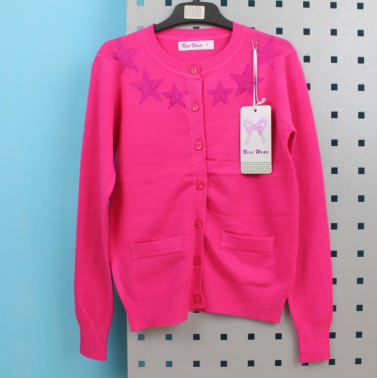 Вязанная кофта на девочку с пояском  тм Nice Wear размер 4 года