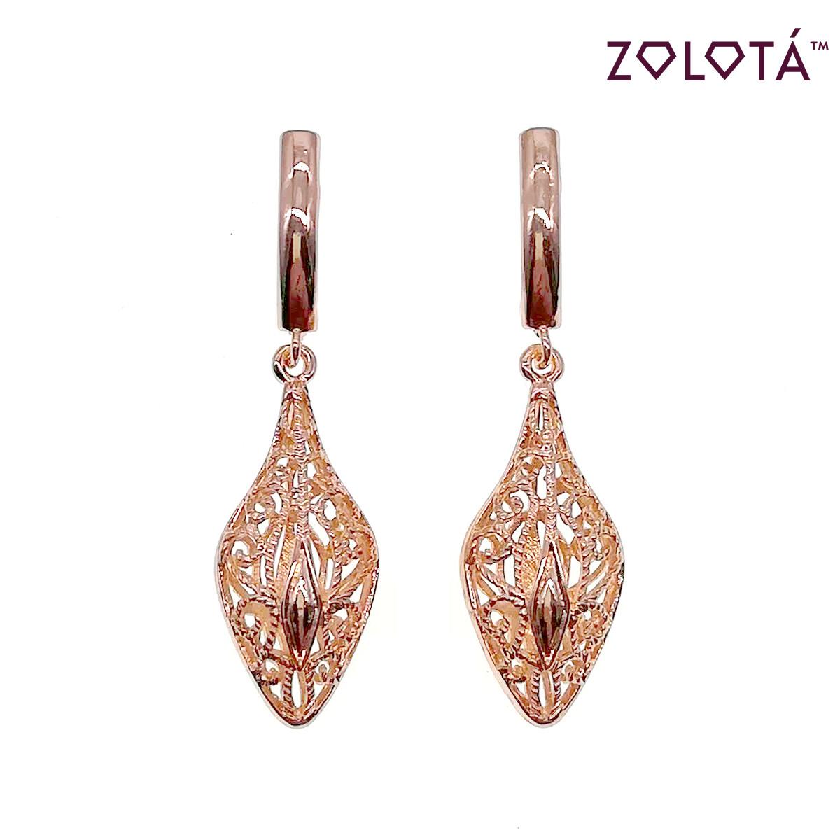Серьги-подвески Zolota, из медицинского золота, в позолоте, ЗЛ00556 (1)