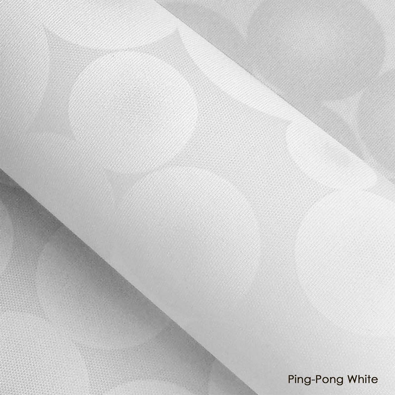 Ролеты тканевые Ping pong White