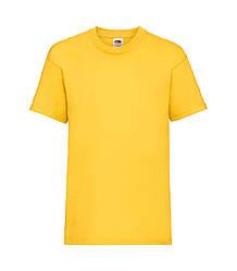 Футболка для мальчиков однотонная желтая 033-34