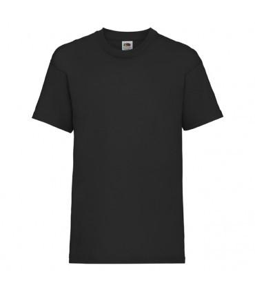 Футболка для мальчиков однотонная черная 033-36
