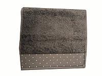 Махровое полотенце Saheser 100-150 см светло серого цвета, фото 1