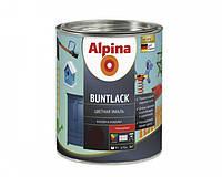 Эмаль алкидная Alpina Buntlack универсальная глянцевая (тёмно-зелёный RAL 6002) 0,75 л