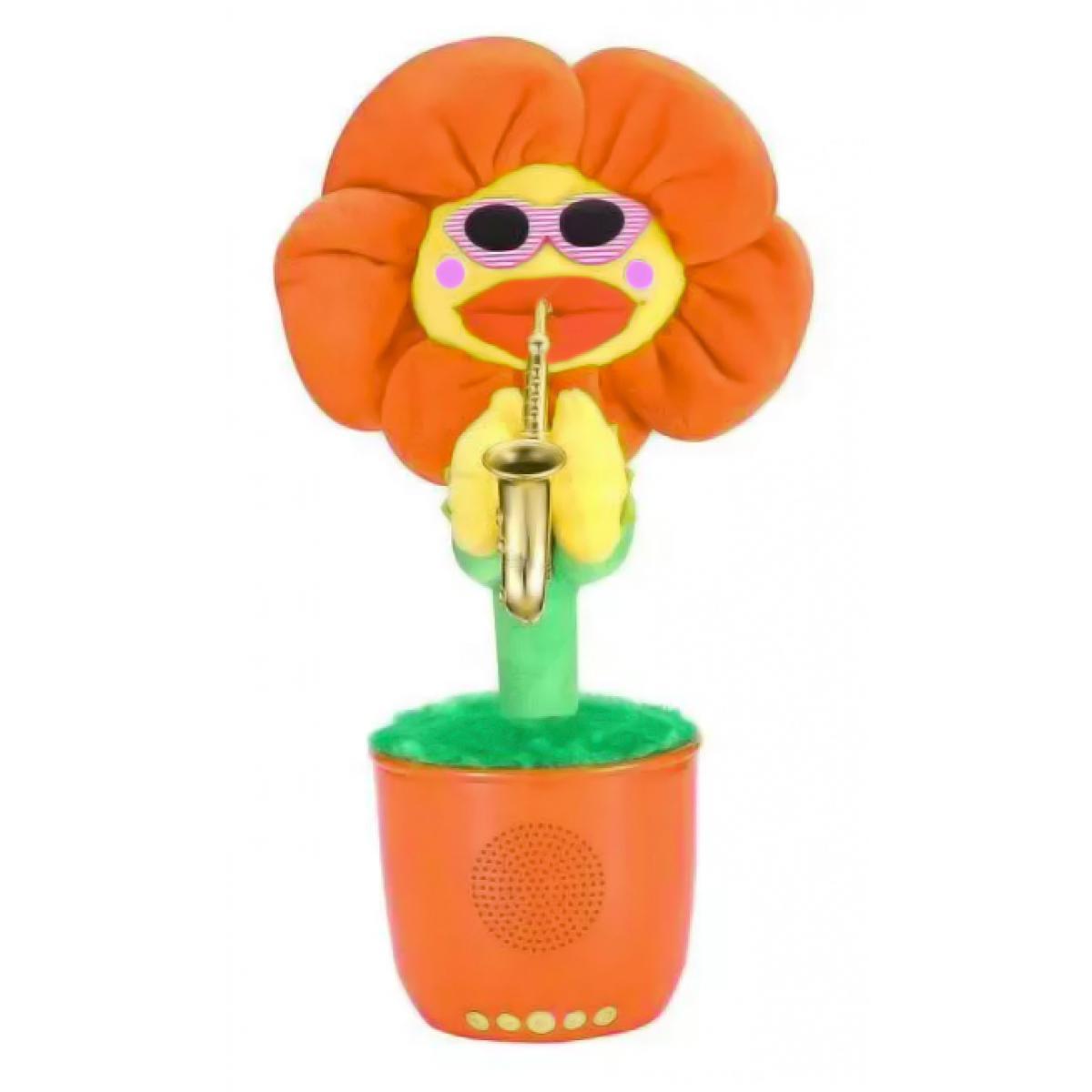 Портативная Bluetooth колонка Dancing Flower G26, Orange, Танцующий и поющий цветок Оранжевая