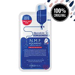 Сужающая поры тканевая маска для лица MEDIHEAL N.M.F Aquaring Ampoule Mask EX.