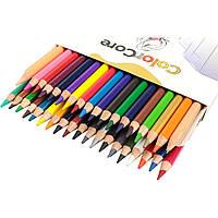Олівці Marco ColorCore 24 кольору шестигранні 3100-24TN