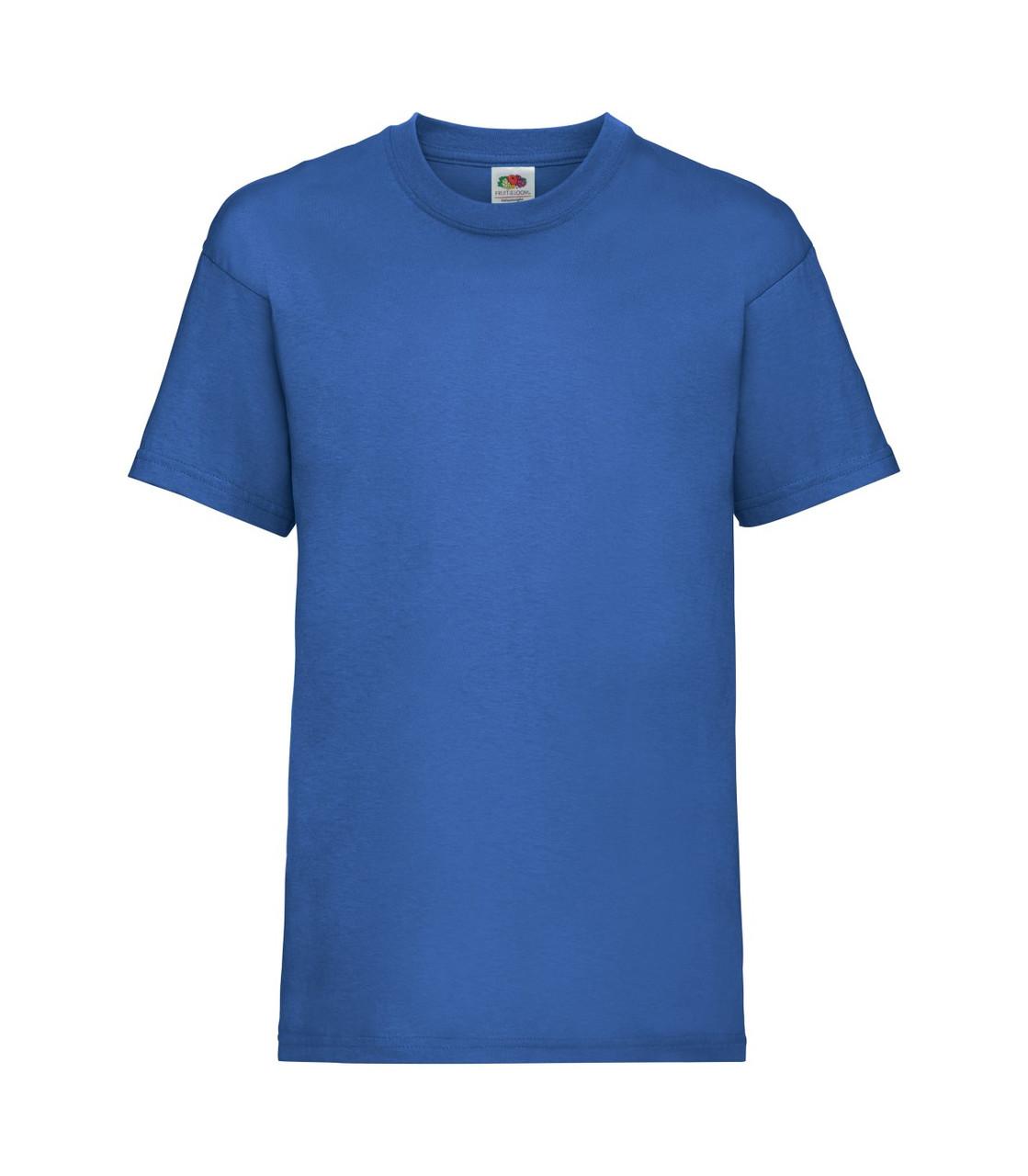 Футболка для мальчиков однотонная синяя 033-51