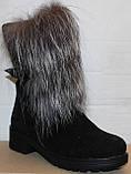 Ботинки молодежные женские с натуральным мехом на каблуке от производителя модель УН437, фото 2