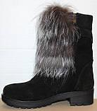 Ботинки молодежные женские с натуральным мехом на каблуке от производителя модель УН437, фото 3