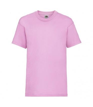 Футболка для мальчиков однотонная розовая 033-52