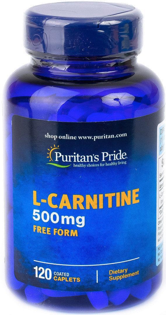 Жиросжигатель Л-Карнитин Puritan's Pride L-Carnitine 500 mg 120 капс