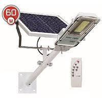 LED уличный светильник на солнечной батарее VARGO 60W 6500К с выносной панелью (VS-109049)