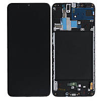 Дисплей для Samsung Galaxy A70 (2019) A705, модуль (экран) с рамкой, оригинал (Super Amoled)