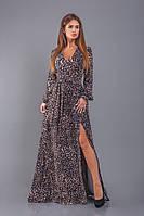 Вечернее женское платье с разрезом