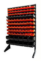 Торговый стеллаж с пластиковыми ящиками для метизов ART15-93/стеллаж цена,складское оборудование,стеллаж, фото 1