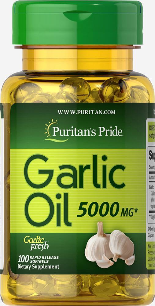 Чесночное масло Puritan's Pride Odorless Garlic 1000 mg 100 капс