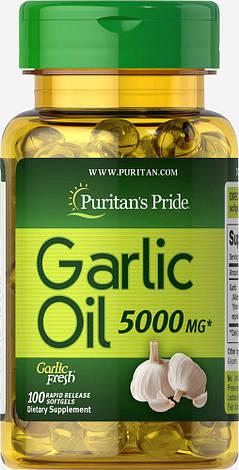 Чесночное масло Puritan's Pride Odorless Garlic 1000 mg 100 капс, фото 2