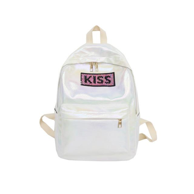 Рюкзак для девочки Kiss белый