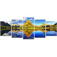 Модульная картина на стену IdeaХ Гармония природы, 150х61 см