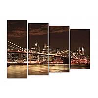 Модульная картина на стену IdeaХ Мост в мегаполис, 120х90 см