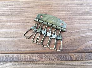 Карабины для ключницы на 6 шт цвет Антик