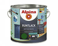 Эмаль алкидная Alpina Buntlack универсальная полуматовая (коричневый RAL 8003) 2,5 л