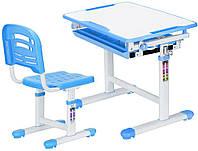 Комплект парта и стульчик Evo-kids Evo-06 Blue (столешница белая/пластик голубой)