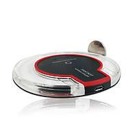🔝 Беспроводное портативное зарядное устройство для телефона Qi Fantasy Wireless Charger - чёрный корпус | 🎁%🚚