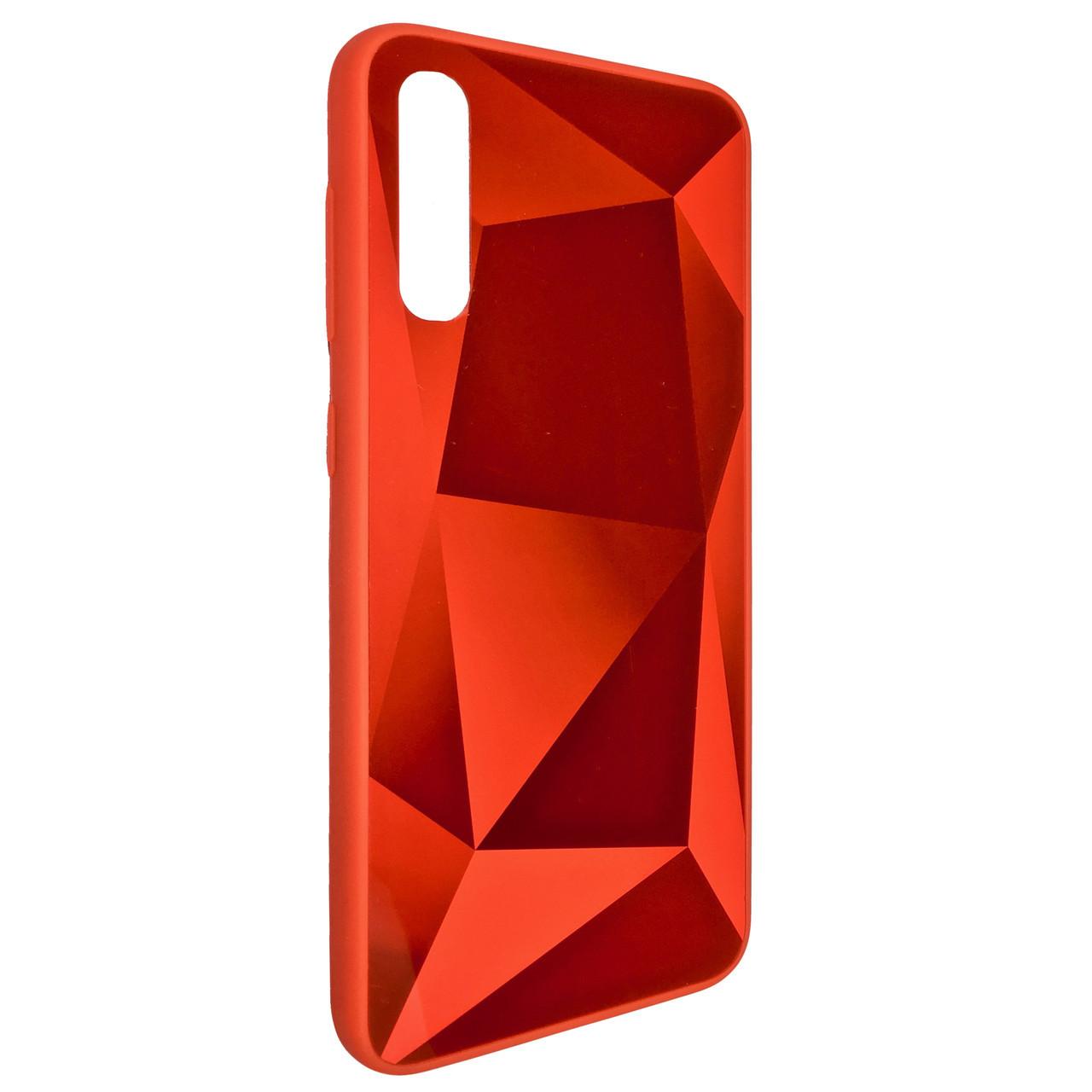 Чехол Silicone Form Vinyl Diamond Samsung A50 (red)