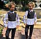 """Детский брючный костюм 728 """"Мадонна Воротничок Баска Контраст"""" в школьных расцветках, фото 2"""