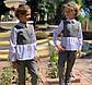 """Детский брючный костюм 728 """"Мадонна Воротничок Баска Контраст"""" в школьных расцветках, фото 3"""
