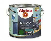 Эмаль алкидная Alpina Buntlack универсальная полуматовая (шоколадный RAL 8017) 2,5 л